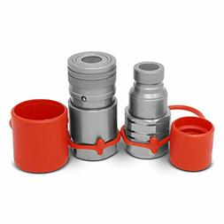5/8 SAE -10 Flat Face Hydraulic Quick Connect Couplers Bobca