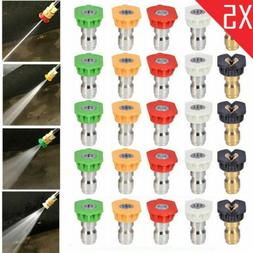 5 Pack High Pressure Washer Spray Nozzle Tips Variety Degree