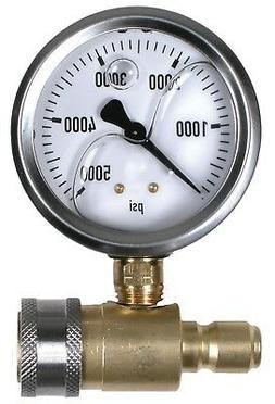 "5000 PSI 2-1/2"" Quick Connect Cold Water Test Gauge Assembly"