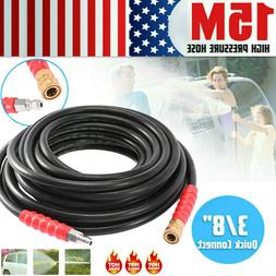 50FT Brass 5800PSI Replacement High Pressure Washer Hose Tub