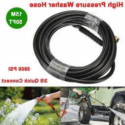 50FT High Pressure Washer Hose 3/8 Quick Connect Extension W