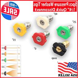 5pcs Pressure Washer Spray Tips Nozzles High Power Kit Quick