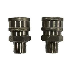 Shark Pressure Washers 89222160 Stainless Male Coupler, 3/8-