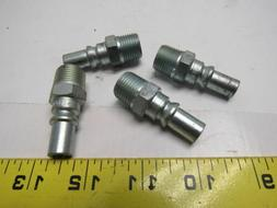 "Amflo CP35 ARO 3/8"" MNPT Steel Male Quick Connect Lot of 4"