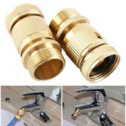 Garden Hose Quick Connector. ¾ inch GHT Brass Easy Connect