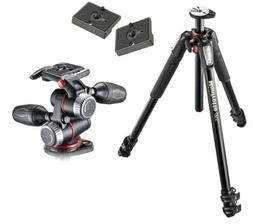 Manfrotto MT055XPRO3 Aluminium 3-Section Tripod Kit w/ MHXPR
