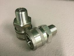 """Power Pressure Washer Fitting 3/8"""" MPT Male 3/8 Stainless Qu"""