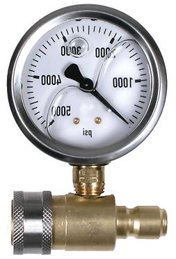 """5000 PSI 2-1/2"""" Quick Connect Cold Water Test Gauge Assembly"""