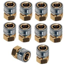 "Pressure Washer Hose Quick Coupler Socket 1/4"" FPT - 10 Pack"