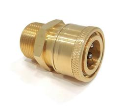 Quick-Connect, Threaded, Brass Coupler, M22 Male End x 3/8 i