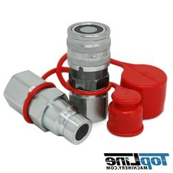 """TL22 3/4"""" SAE Thread Flat Face Quick Connect Hydraulic Coupl"""