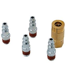 FIXSMITH Air Coupler Plug Kit - 5 Pcs Air Hose Quick Connect