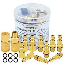 "Air Coupler and Plug Kit 1/4"" NPT Air Fittings Astarye 12 Pi"