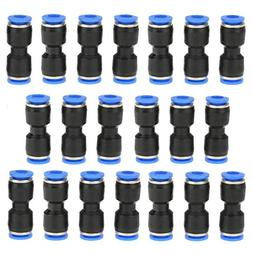 Air Tool Fittings, 20 Pcs Straight Push Connectors Tube Quic