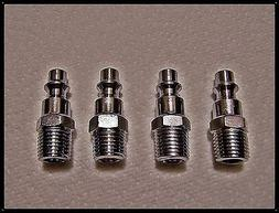 Air Quick Connect Male Thread Plugs Zinc Plated Steel set of