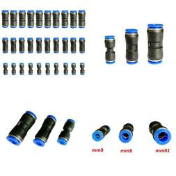 Air Tool Fittings, 30 Pcs Straight Push Connectors Tube Quic