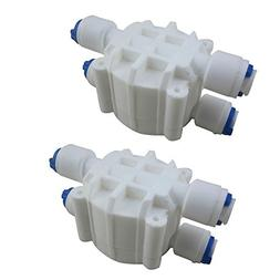 ASOV-4W Automatic Shut Off Valve with Quick Connect white pl