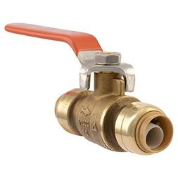 Ball Valve 1/2 In Brass Push-to-Connect SharkBite Shut Off L