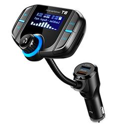 Bluetooth FM Transmitter with QC 3.0, LUMAND Wireless in-Car