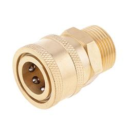 """MonkeyJack Brass 3/8"""" to M22 Quick Connect Coupler Car Clean"""