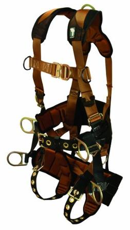 FallTech 7084L ComforTech TowerClimber Full Body Harness wit