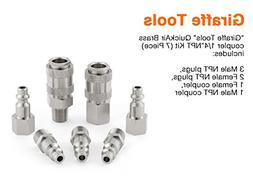 Giraffe Coupler & Plug Kit , Industrial Type D, 1/4 in. NPT,