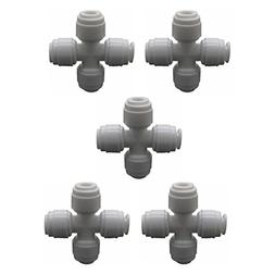 1/4 Criss-cross Quick Connect Fittings + 20 Locking clips Ro