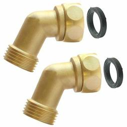 Garden Hose Elbow Connector 45 Degree Extender Solid Brass A