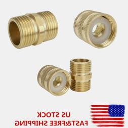 Garden Hose Pipe Quick Connector 3/4 Inch Brass Easy Connect
