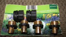 Garden Hose Quick Connect Brass 2 Hose Female Fittings & 4 T