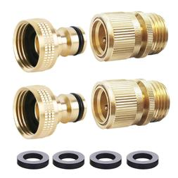 HQMPC Garden Hose Quick Connect Solid Brass Quick Connector