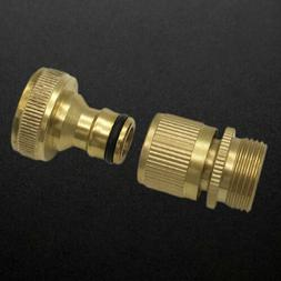 Garden Water Hose Quick Connector 3/4 Inch GHT Brass Easy Co