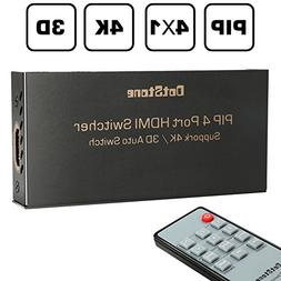 DotStone HDMI Switch 4×1 with PIP Auto Switch Off/On HDMI S