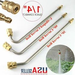 """High Pressure Elbow Washer Gutter Cleaner Lance/Wand 1/4"""" Qu"""
