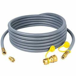 "X Home 24 Feet 1/2"" ID Natural Gas Hose, Propane Gas Grill Q"