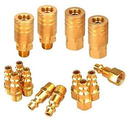 industrial solid brass quick coupler