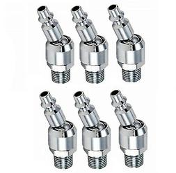 """6pc Industrial Swivel 1/4"""" NPT Male Quick Connect Air Tool F"""