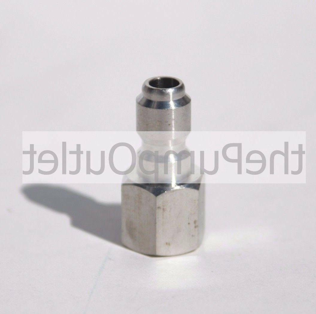 """1/4"""" FPT x 1/4"""" Male Quick Connect Stainless Steel Pressure"""