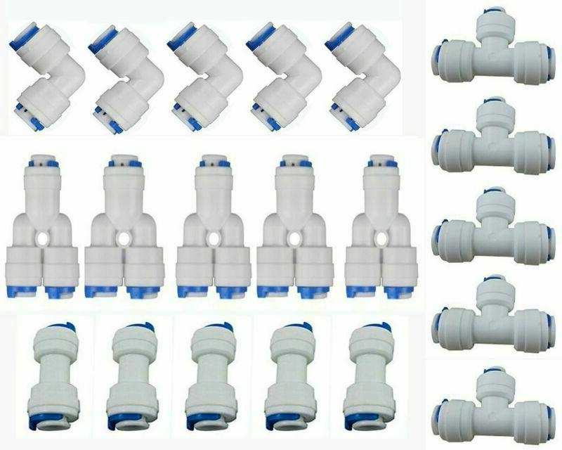 "1/4"" Od Quick Connect Push In To Water Tube Fitting Set Of 2"