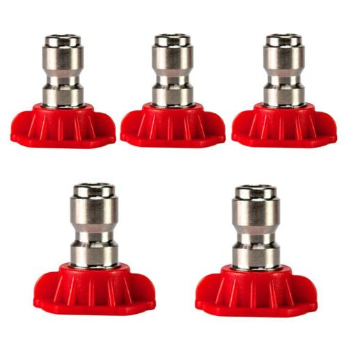 1-5PCS Pressure Washer Nozzle Connect Design 2.5-4.0