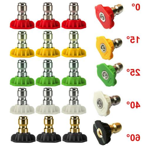 1 5pcs pressure washer spray nozzle tips