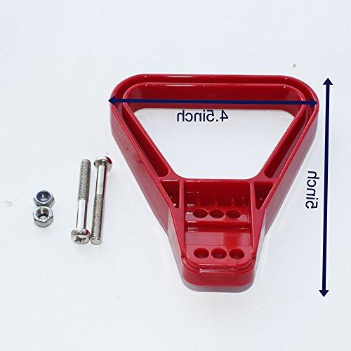 X-Haibei 1 Battery Winch Trailer Quick Connector Handle for 350 175 AMP Plug Connect Disconnect RED