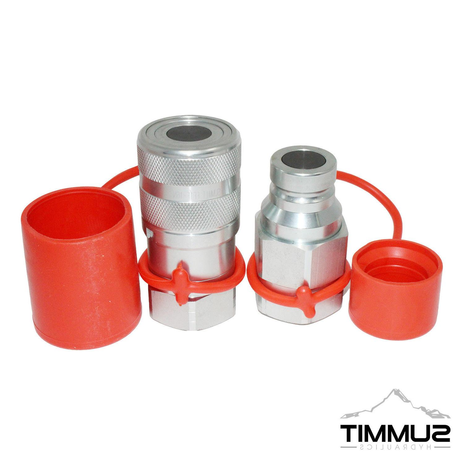 """1"""" NPT High Flow Flat Face Hydraulic Quick Connect Coupler"""