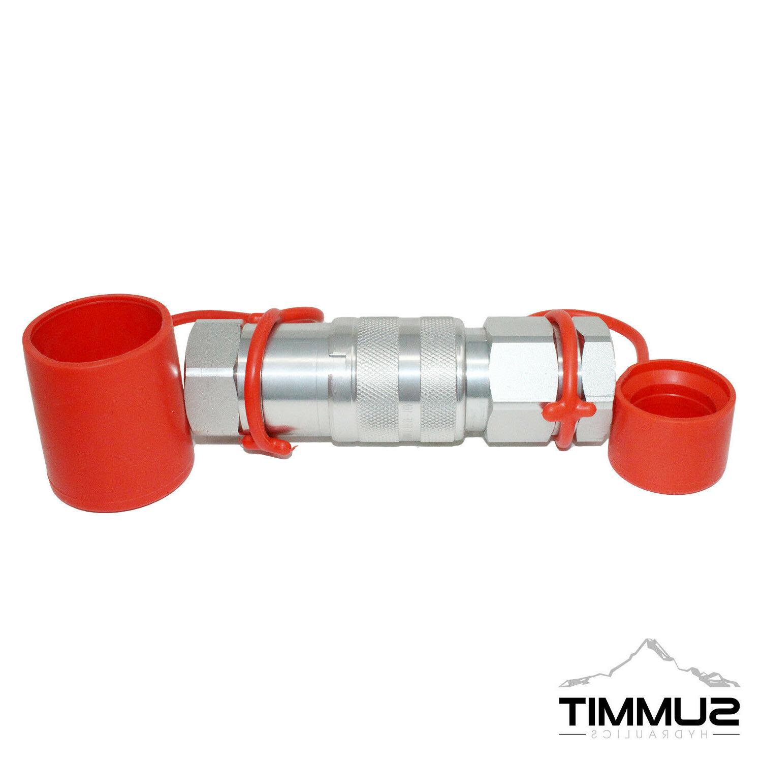 """1"""" NPT High Flow Flat Face Hydraulic Connect Coupler 1"""" Body"""