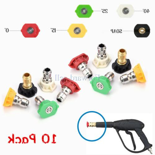 10 pack high pressure washer spray nozzle