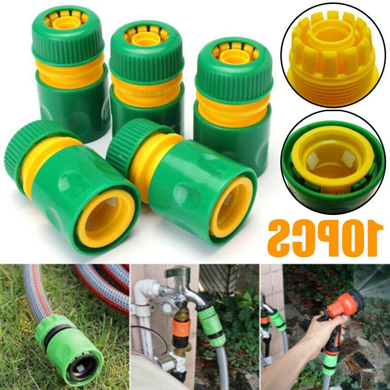 10x Garden Tap Water Hose Pipe Connector Quick Connect Adapter Fitting Water