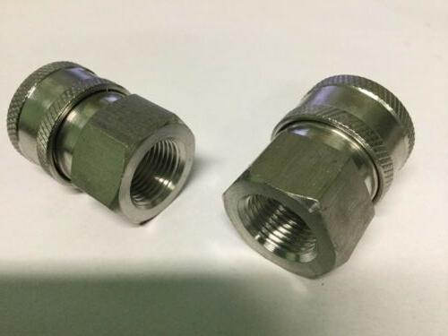 """2- Power Washer 3/8"""" FPT Quick Connect Socket Steel"""