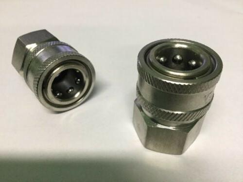 """2- Power Pressure Washer 3/8"""" FPT Quick Connect Socket 4000"""