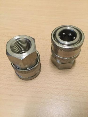 """2- Power Pressure Washer Fitting 1/4"""" FPT Female 1/4 Stainle"""