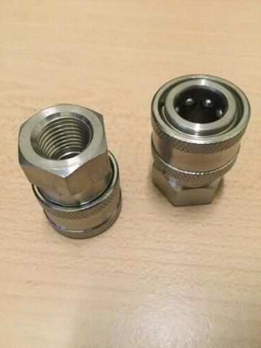 "2- Power Pressure Washer Fitting 1/4"" FPT Female 1/4 Stainle"